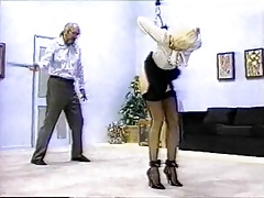 Man uses whip on woman