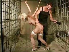 Sexy blonde gets punished..