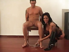 Bound and fucked by a woman