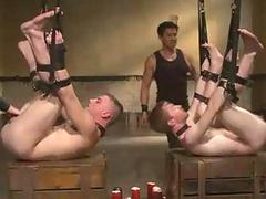 Gay BDSM Foursome Live Action