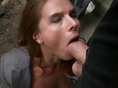 Tough chick with hot natural..