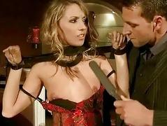 Sexy girl gets bondaged and..