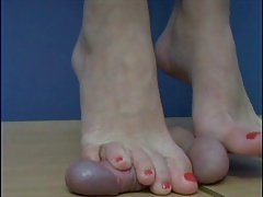 CBT barefeet trample with..