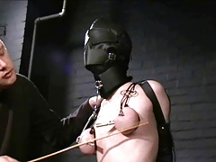 hooded slave tortured and..