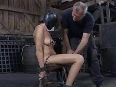 Gagged and tied up girl gets..