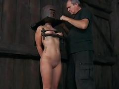 Slave gets ass whipping..