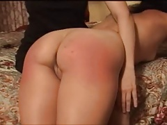 cute brunette spanked