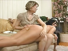 brunette spanked otk naked