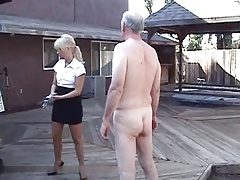 Caning senior denizen