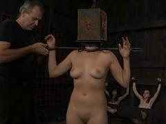 Tied up slave receives lusty..