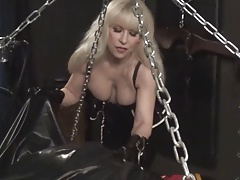 Rubber Latex Bondage with..