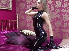 Anya Black Latex Catsuit