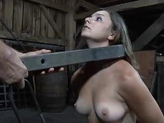 Breasty gal loves getting..