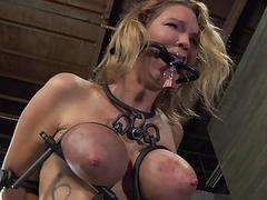 Tough girl in shackles..