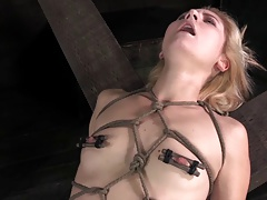Cute blonde all tied up..