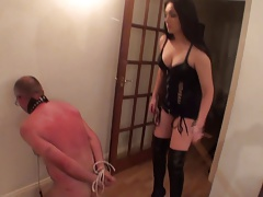 woman caning depending