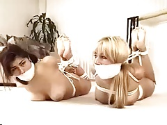 Cuties roomates unmask hogtied