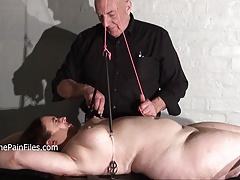 Nipple tortured crying fat..
