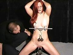 Amateur bdsm and tit anguish..