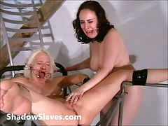 Two slaves bizarre pussy..