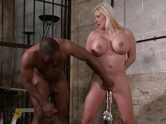 Interracial needle bdsm of..