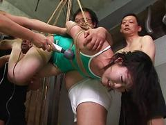 Asian freak tied up to be..