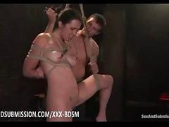 Bondage murkiness babe gives..