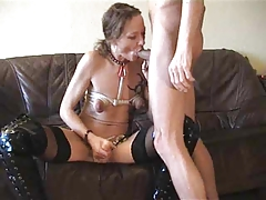 Kinky couple- wife strap-on..