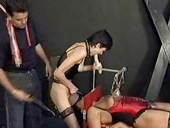 Slave with metal clamps on..