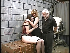Two cute basement bdsm..