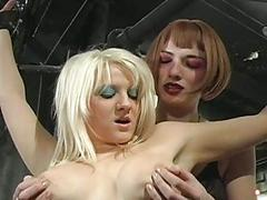 Twosome knockers in hard test
