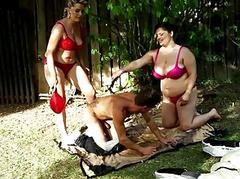 Coloured BBW threesome orgy..