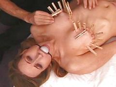 Sexy harlot gets hog tied..