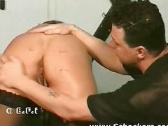 Slave gets ass punished with..