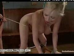 Bondage busty tow-headed..