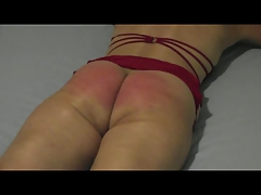 Flogged on the bed