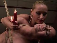Domina punishing slave girl