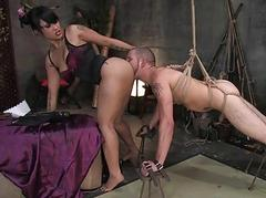 Main punished by husband and..