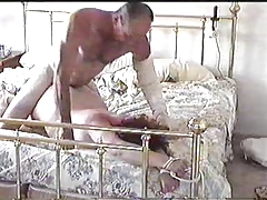 Wife tied to the bed