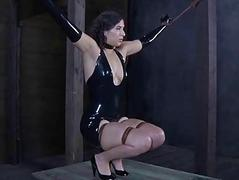 Chained babe needs X agony