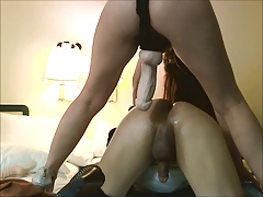 Big cock gets fucked hard!..