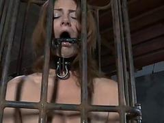 Chained babe needs blue..