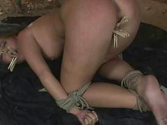 Girl gets painfully punished..
