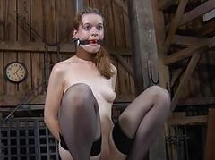 Titty agony for ill chick