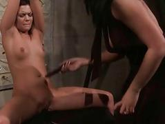 Young mistress punishing her..