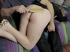 Wife Spanked OTK With Wooden..