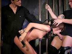 Sophie Lynx getting tied up..