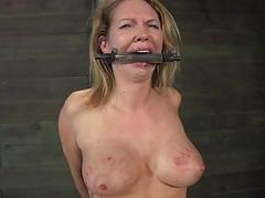 Caged babe forced to about..