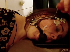 Gagged filial GF gets a facial