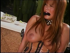 Hot horny BDSM chick outside..